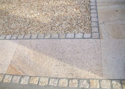 Colour Stone Path combined with Gravel