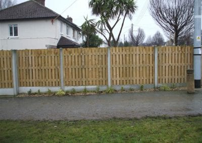 Maintenance free Double Fencing by Foxrock Paving