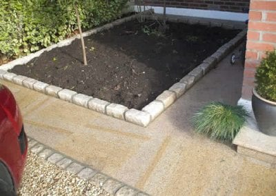 Flower Beds with Brick Lining