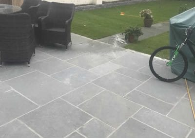 Back Patio in Limestone in Dundrum, County Dublin