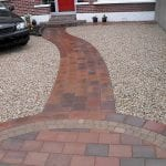 Tobermore Shannon Brick with Gravel Parking Area